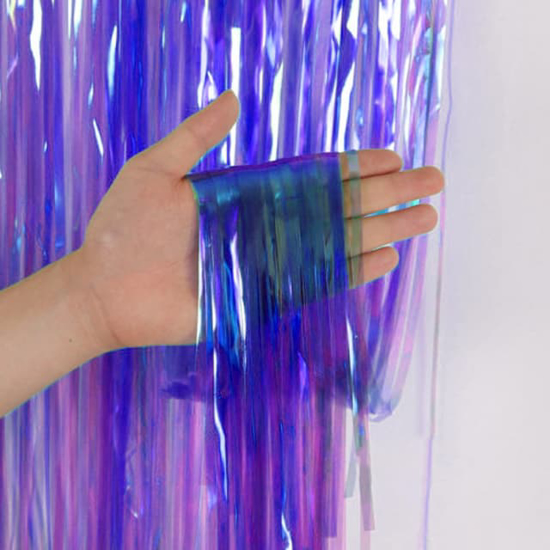 Снимка на Парти завеса ресни лилав хамелеон 1х2 метра