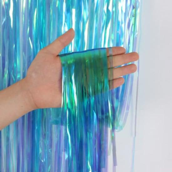 Снимка на Парти завеса ресни син хамелеон 1х2 метра