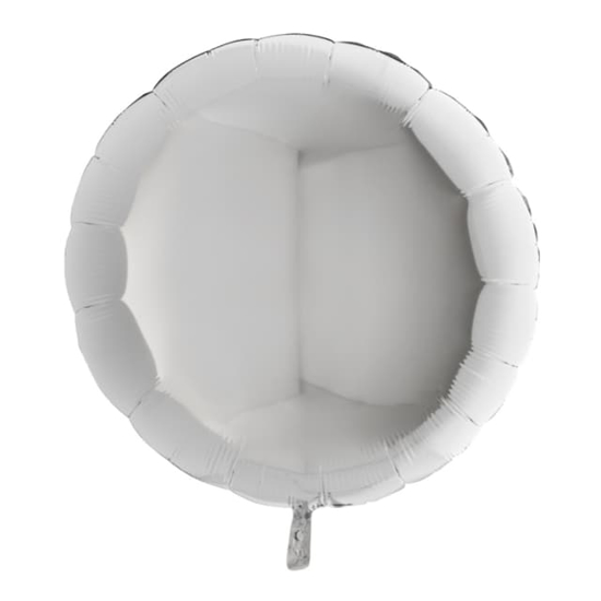 Снимка на Фолиев балон кръгъл сребрист 70см.