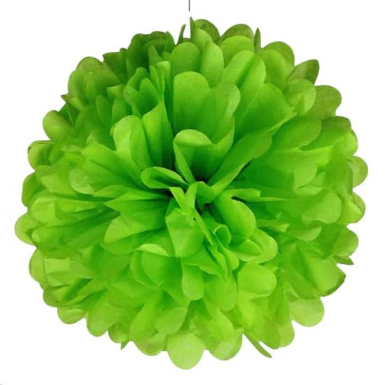 svetlo-zelen-pompon-za-dekoraciq