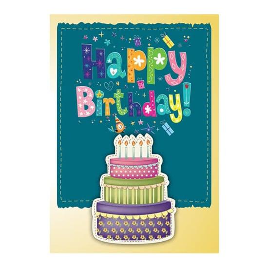"""Снимка на Картичка """"Happy Birthday!"""" с торта за рожден ден"""