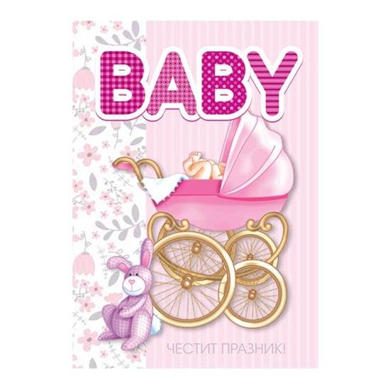 """Снимка на Картичка """"Baby"""" за новородено бебе момиче"""