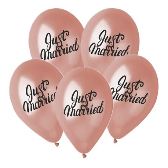 baloni-just-married-rozovo-zlato