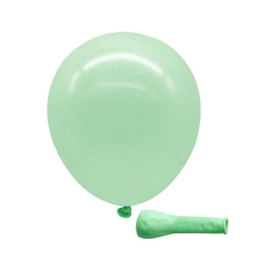 Снимка на Балон макарон Зелен 13см.